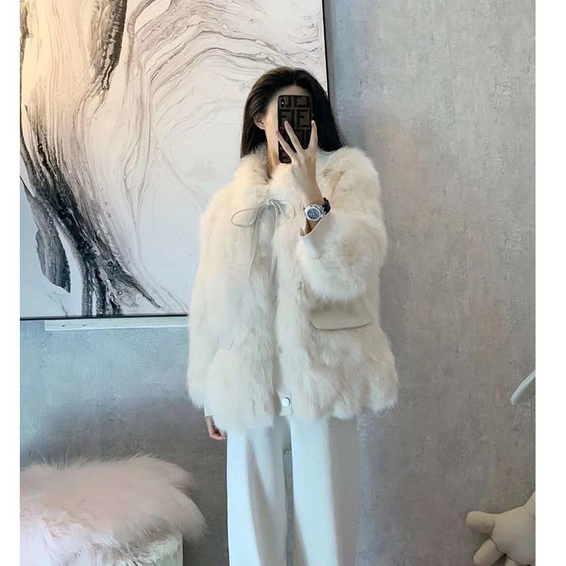 2020新款冬派克服女獭兔毛内胆可拆卸貉子毛领狐狸毛皮草短款外套