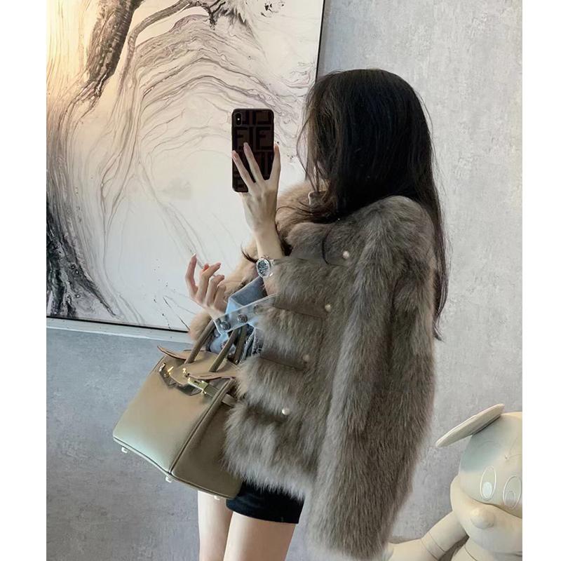 高领女士毛衣黑色修身加绒加厚羽绒棉袖针织衫内搭皮袖打底衫女冬