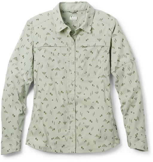 2021女士春装新款印花衬衫衣设计感小众长袖打底内搭上衣户外衬衫