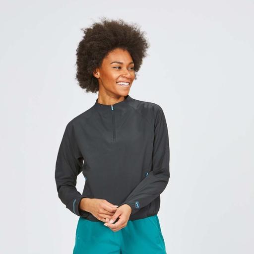 女运动外套2021春季防风跑步拉链休闲夹克开衫印花立领外套潮