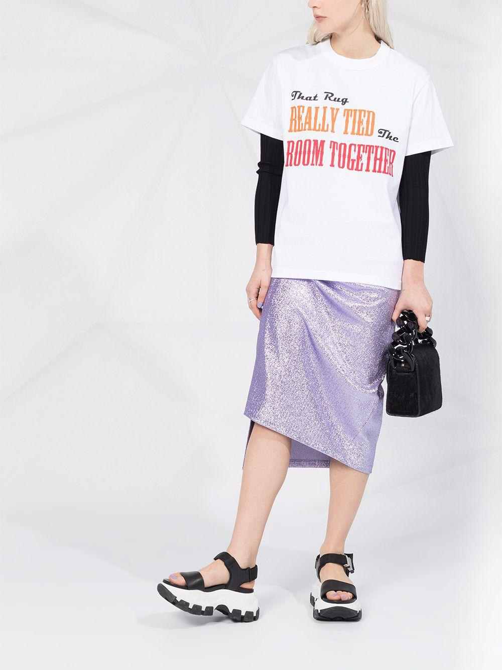 纯棉女款字母印花T恤